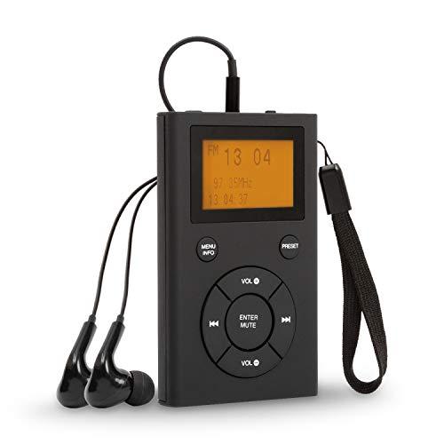 Radio Portatili Ricaricabile, Radio DAB DAB+  FM Radiolina Portatile con Cuffie, Tascabile Cuffie Radio Personale, Mini Radio Portatile Piccola con Ricarica USB per 8 ore di Riproduzione (Nero)