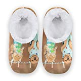 Irud Home Pantofole Interessanti Gruppo Mangiare Cane Casa Scarpe Antiscivolo Coral Velvet Fuzzy Pantofole Comfort Calde Casa Camera Da Letto Viaggio per Uomini Donne, (Multicolore), large