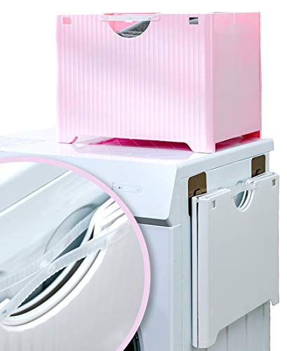 HDirect Foldable Multifunction Wall Mounted Storage Basket Waterproof Laundry Hamper Plastic Space Saving Bathroom Collapsible Storage Baskets 38CM(L) 28cm(W) 30cm(H)/15'(L) 11'(W) 12'(H) Pink
