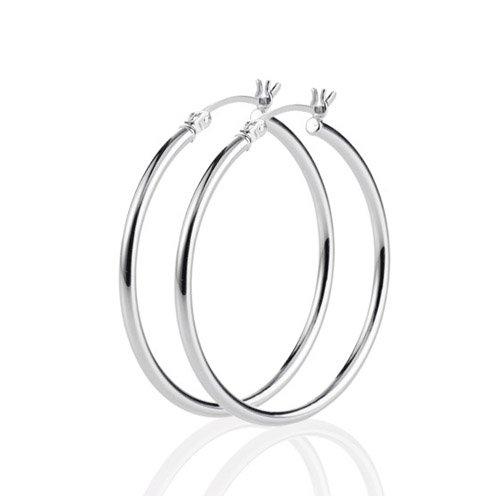 Heartbreaker Luxus Creolen Ohrringe aus der Kollektion Style & Go in Echtsilber | Ohrringe Silber 925 Sterling nickelfrei | Elegante Design Ohrringe für Damen