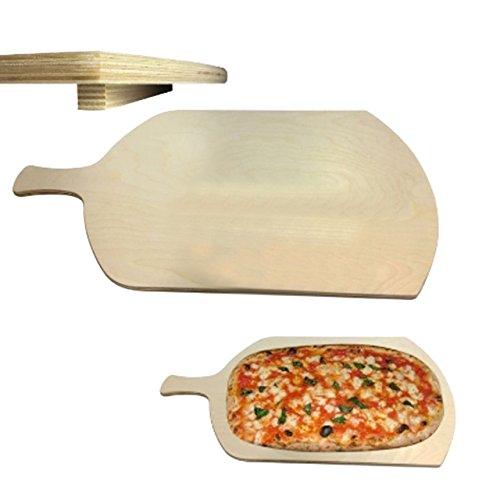 Tagliere rettangolare con manico per pizza a metro legno multistrato betulla meeting spessore 1,2cm (37x62cm)