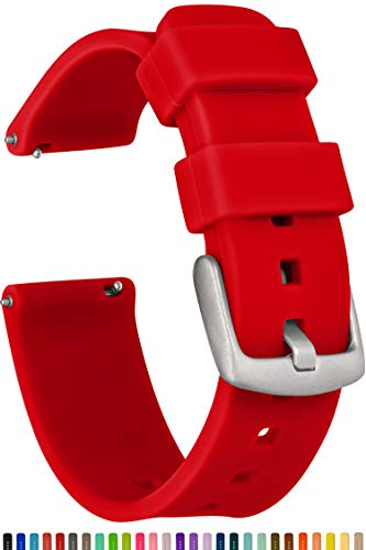 GadgetWraps 20mm Gizmo Watch Silicone Watch Band Strap with Quick Release Pins  Compatible with Gizmo Watch, Samsung, Pebble  20mm Quick Release Watch Band (Red, 20mm)