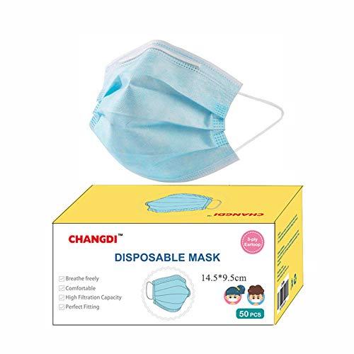 Mascarilla infantil desechable Se Envía desde España 50 Unidades Protección Facial Higiénicas 3 CAPAS Pack de 50 unidades para Niños Niñas