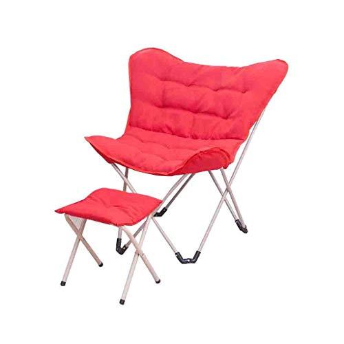 JIEER-C vrijetijdsstoel, inklapbare stoel voor computer, vlinderstoel, eenvoudige stoel voor thuis in de open lucht, met voeten, robuust Netto