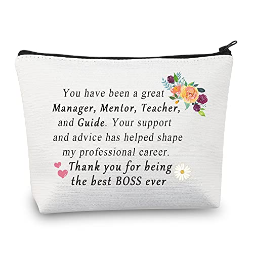 Bustina per trucco da donna, idea regalo, idea regalo per il capo, regalo di ringraziamento per il capo della donna, borsa da viaggio, Borsa Boss,