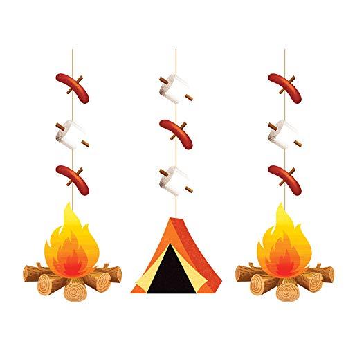 Creative Converting Camping String Drapes Decorations HANGING CUTOUTS, Multicolor
