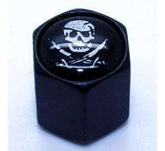 LED-Mafia 4 Ventilkappen Ventil Anh/änger Schl/üsselring Etui Schl/üssel Totenkopf Chrom der Eiserne Schl/üsselanh/änger Totenkopf Black Chrom