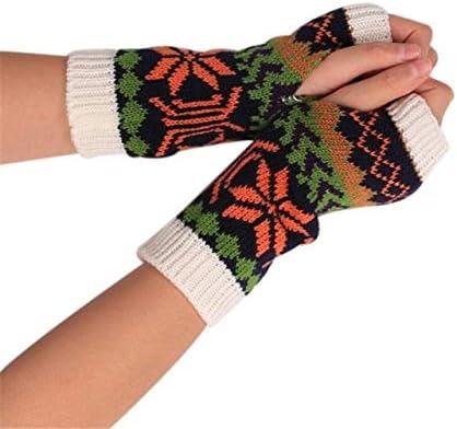 Fashion Knitted Arm Fingerless Winter Gloves Unisex Soft Warm Mitten Hand Gloves guantes eldiven handschoenen 40FE18 - (Color: F, Gloves Size: One Size)
