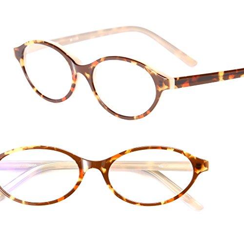 ミディのお洒落なスマホ老眼鏡 (オーバル) / 「+0.5」の老眼鏡 レンズ度数?1.0でも強いと感じる老眼鏡ユーザーに / 老眼鏡 0.5 拡大鏡 リーディンググラス シニアグラス ブルーライトカット オシャレ おしゃれ レディース (m110,+0.5