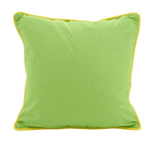 SARO LIFESTYLE Jeunesse Collection Colourpop Piping Throw Pillow, 18', Lime