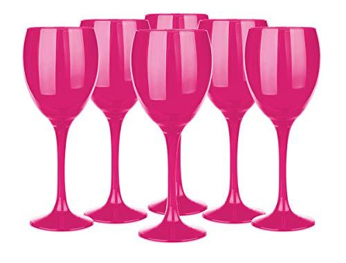 Weingläser Set 300ml im 6er-Pack Rotweingläser Weißweingläser Weinkelch Pink