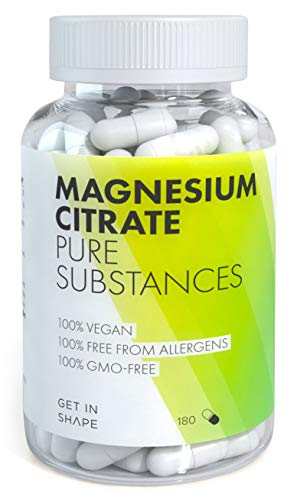 Magnesium Citrate 301,5 mg per Daily Dose - 180 Magnesium Tablets for a 2 Months' Supply - Vegan Supplement by Get in Shape