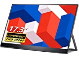 Portable Monitor - UPERFECT 17.3' FHD 1080P 100% sRGB, Frameless FreeSync IPS HDR Gaming Display with 90°Adjustable Kickstand, Dual USB C for Laptop, PC, MAC, Surface, Phone, PS3, PS4, Xbox, Switch