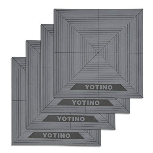 YOTINO Superficie de construcción de impresión 3D con cinta adhesiva de 3M - 20 x 20 cm - Plataformas de impresora 3D, base de impresora 3D (4 Pcs)