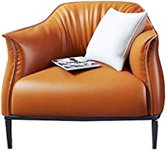 Garden Chair Lounge Chairs PU Leather Armchair for Living Room,Bedroom,Club,Office 3 Colors Lounge Armchair (Color : Orang...