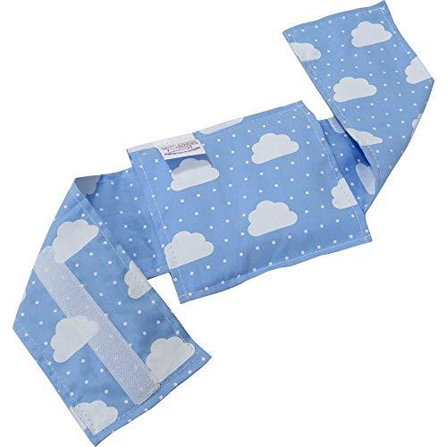 Bolsa Térmica Bebê sem Cólica com Cinta Nuvem Azul