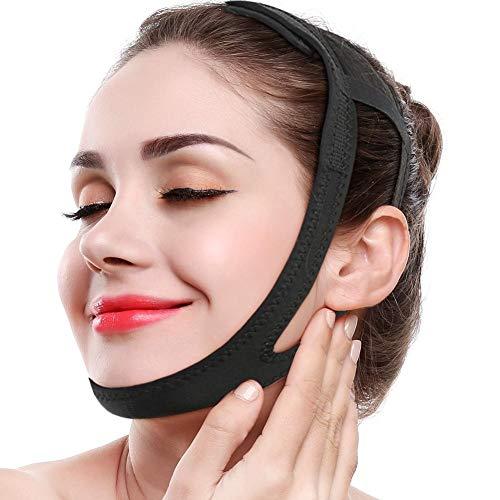 Maschera viso snellente viso snellente, cintura viso lifting Ridurre la resistenza del peso del doppio mento Forma V-Line Perdita di peso per fasciatura facciale