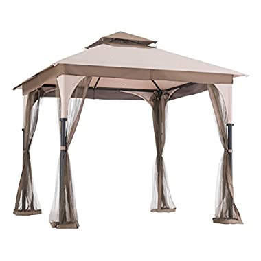 sunjoy 8′ x 8′ Marcel Soft top Gazebo with Netting