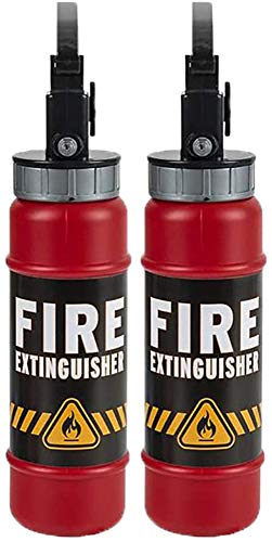 The Dreidel Company Extinguisher Squirter Toy Water Extinguisher with Realistic Design, Fun Outdoor Summer Toy, Great Fireman Novelty Toy for Kids, 9.5' in (2-Pack)