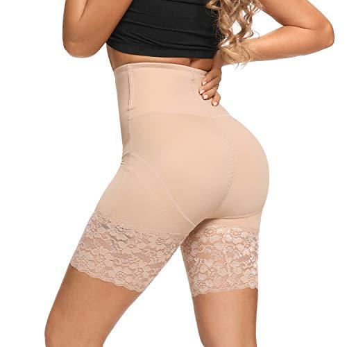 Joyshaper Miederhose Bauch Weg stark formend Shapewear Damen Hose unter Rock Kleid Anti Chafing Unterwäsche Unterhose Bodyshaper für Frauenn,Hautfarbe,L