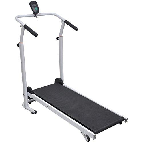 Festnight Faltbares Mini Laufband Sport Fitnessgerät Tretmühle Treadmill 100 x 53 x 105 cm Schwarz