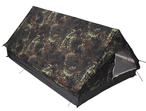MFH 2 Personen Zelt Minipack Campingzelt BW Zelt Outdoor 213x137x97cm verschiedene Farben (Grün)