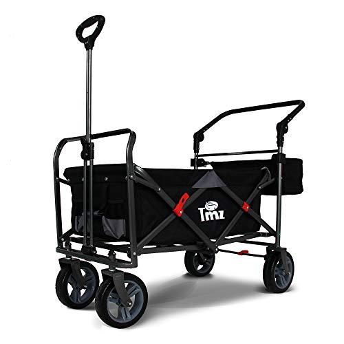 Carro plegable TMZ para jardín con freno de pie, giratorio