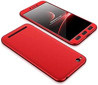 Xiaomi Redmi 5A Case, ultra Slim Gkk 360 Protection Cover Case - Red