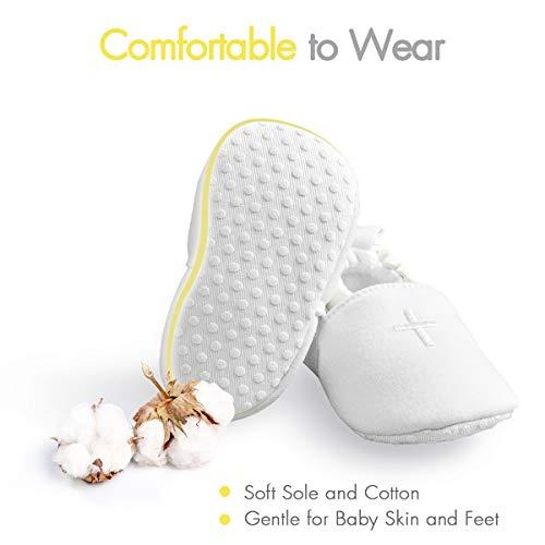HAPIU Baby Baptism Shoes,Premium Soft Sole Infant Sneaker,Prewalker Shoes,0-3M