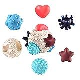 PETUFUN Bolas sensoriales para niños, bolas multisensoriales Testurizadas, juguetes de baño con bolas sensoriales táctiles con juego de multiesferas texturizadas para niños
