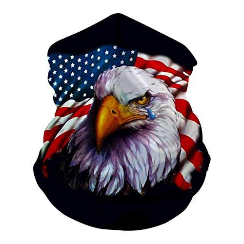 ZUIXINLIAN American Flag Eagle Crying Washable Cotton C-Over to Protect Face Mouth for Man Woman M-Ask