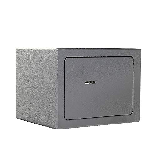 Caja Fuerte para Muebles HOMESTAR 1 de Rottner, ColorAntracita, Fabricada en Acero, Cerradura de Llave de Doble paletón, Kit de fijación Incluido