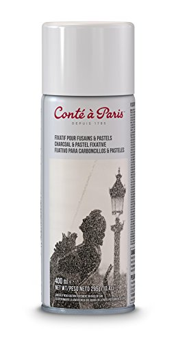 Conté à Paris - Spray fijador para pastel y carboncillo, 400 ml