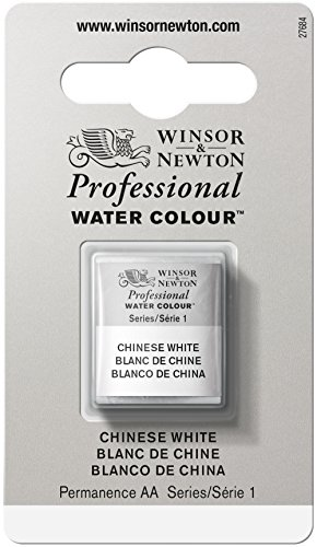 Winsor & Newton Professional Water Colour Paint, Half Pan, Chinese White