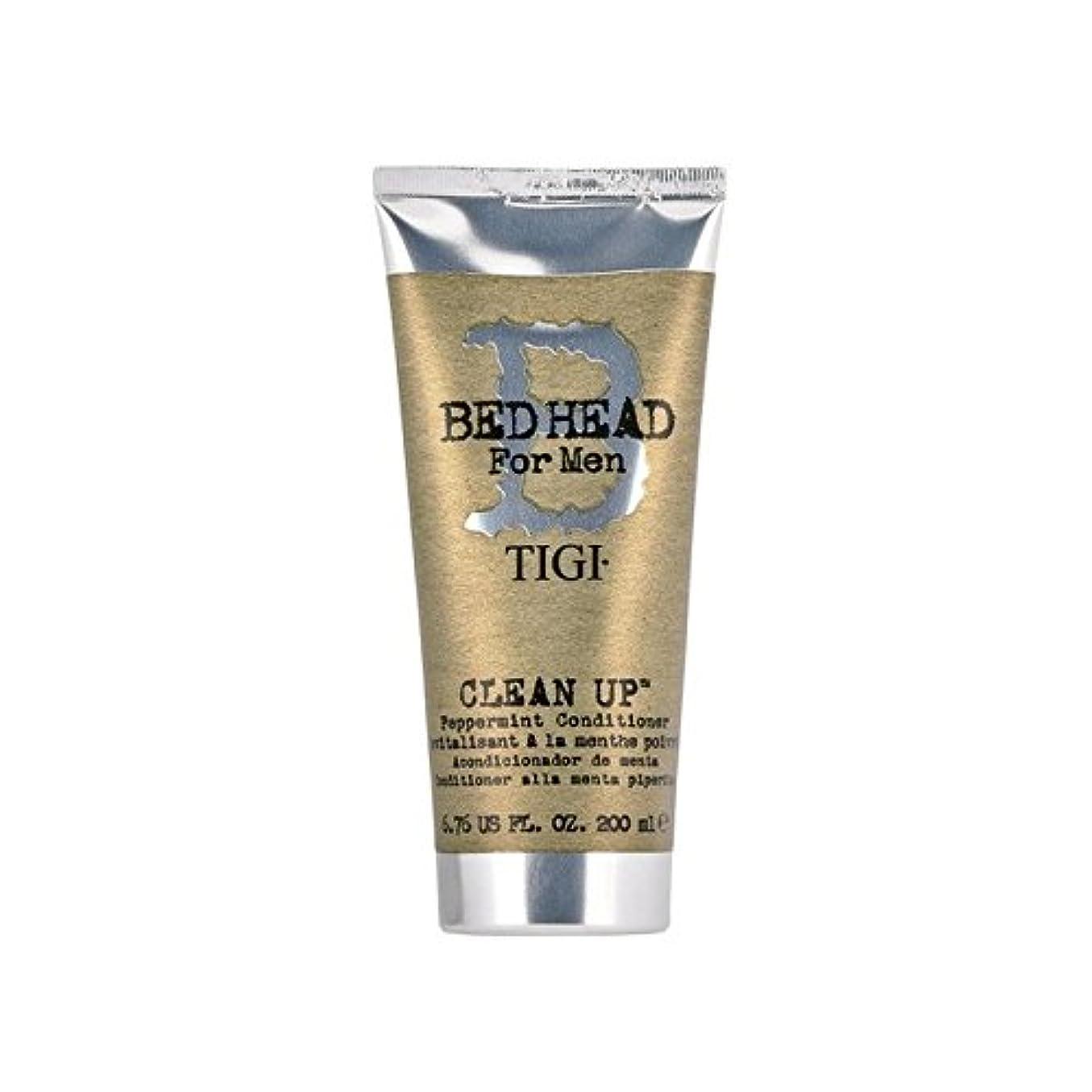 写真を撮るサンダース貸し手ペパーミントコンディショナーをクリーンアップする男性のためのティジーベッドヘッド(200ミリリットル) x4 - Tigi Bed Head For Men Clean Up Peppermint Conditioner (200ml) (Pack of 4) [並行輸入品]