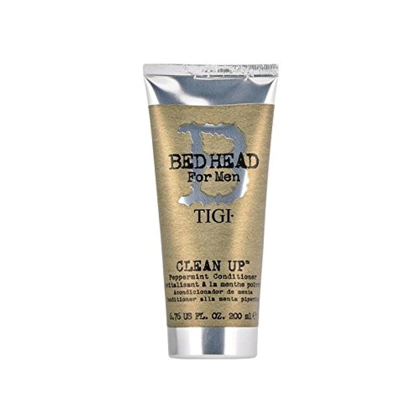 請願者チョップ石膏ペパーミントコンディショナーをクリーンアップする男性のためのティジーベッドヘッド(200ミリリットル) x4 - Tigi Bed Head For Men Clean Up Peppermint Conditioner (200ml) (Pack of 4) [並行輸入品]