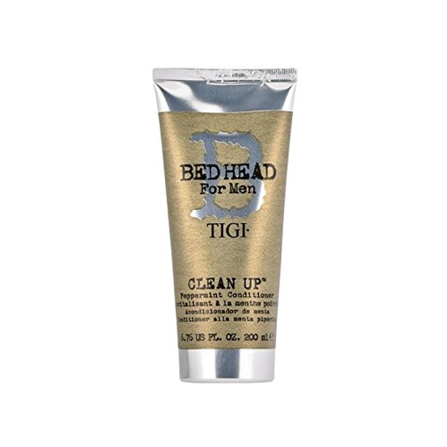 スカーフ卒業サイズTigi Bed Head For Men Clean Up Peppermint Conditioner (200ml) (Pack of 6) - ペパーミントコンディショナーをクリーンアップする男性のためのティジーベッドヘッド(200ミリリットル) x6 [並行輸入品]