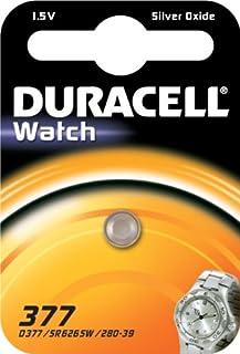 Duracell 377, SR626SW SB-AW AG4, pila da 1,55 V, ossido d'argento, per orologi