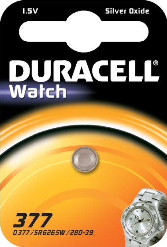 Duracell 377 Household Battery Single-Use Battery SR66 Óxido de Plata 1,5 V - Pilas (Single-Use Battery, SR66, Óxido de Plata, Botón/Moneda, 1,5 V, 1 Pieza(s))