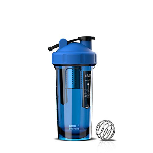 AGOOLZX Shake Cup Protein Shake Kettle 700ml to 940ml Neutral Water-reducing Milkshake Mix Cup 4 Whey Protein Creatine BCAA Weight Loss