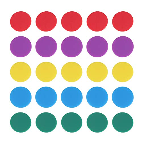 Toyvian 100 Stücke Zählen Chips Kunststoff 25Mm Bingo Spiel Zubehör