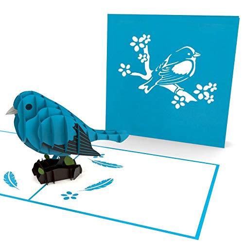 XXL 3D pop-up kaart met blauwe spat/vogel, diverse gelegenheden, verjaardagskaart, wenskaart, wenskaart, wenskaart als bedankje, originele cadeaukaart, bedankkaarten
