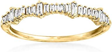 Ross Simons 0 20 ct t w Baguette Diamond Ring in 14kt Yellow Gold Size 6 product image