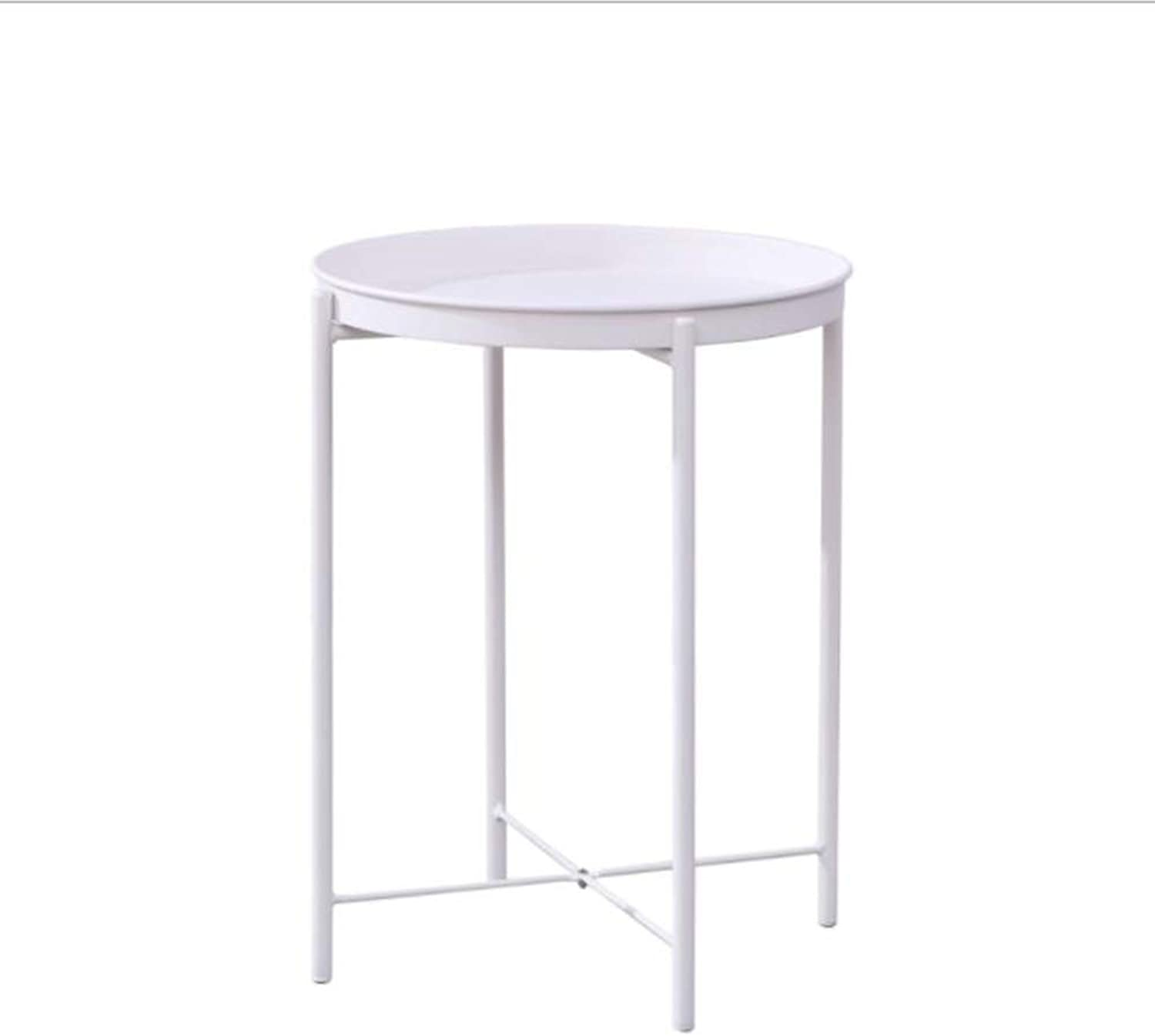 Nordic Modern Simple Round Mini Creative Small Coffee Table Corner Few Simple Bed Foldable Small Round Table White
