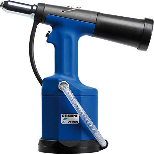 Gesipa 1456724 Herramienta de remachado de ciego neumático-hidráulico de carrera PH 2000', Azul/Negro, 22 mm
