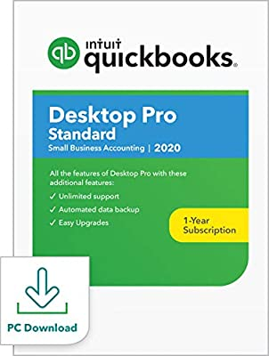QuickBooks Desktop Pro Standard 2020 Accounting Software for Small Business [PC Download]