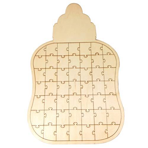 Libro de Visitas Boda Libro de Firmas en Forma de Puzzle de Biberón Libro de Invitados Decoración de Mesa de Boda Baby Shower