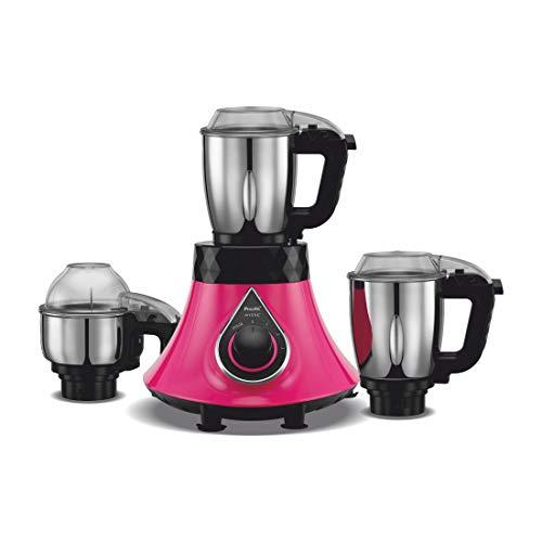 Preethi - MG238 Mystic 750Watt Hands Free 3 Jars Mixer-Grinder (Pink)