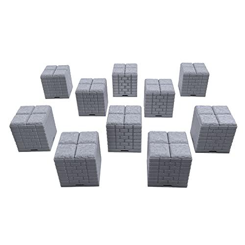 EnderToys - Piastrelle per dungeon, 10 pezzi, motivo: paesaggio del terreno, 28 mm, in miniature, con stampa 3D, verniciabile