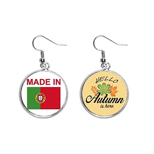 Pendientes fabricados en Portugal Country Love Lóbulo Otoño Hojas Pendientes joyas